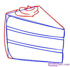 how to draw a cute cake step 3