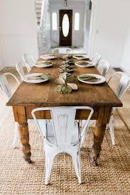 Rustic Farmhouse Dining Table Best Of White Metal Chairs Room Decor By Liz Marie