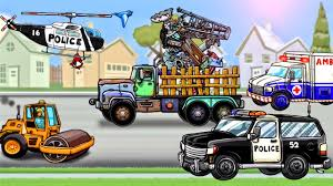 Junk Truck, Police Car : Trucks Game Cartoons For Kids - Videos For ... Cars Mack Truck And Lightning Mcqueen Play Car Toy Videos For Kids Monster Arena Driver 4x4 Racing Games Videos Extreme Kids Euro Simulator 2 Computer Software Video Wiki Steam Cd Key Pc Mac Linux Buy Now Neon Green Robot Machine 5 Cement Shapes Learning Game Professional Farmer 2014 Platinum
