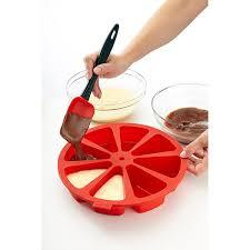 moule cuisine moule à gâteau 8 parts cake portion silicone lekue moules et