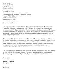 Cover Letter Uc Davis Experience Resumes