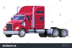 Classic Tractor Truck Sleeper Cab Fifth Stock Vector (Royalty Free ...