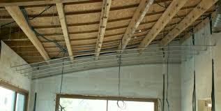 pose rail placo plafond autoconstruction de notre maison plafond placo