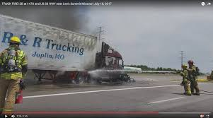 100 Comcar Trucking TRUCK FIRE EB At I470 And US 50 HWY Near Lees Summit MO