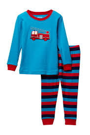 Leveret | Two-Piece Fire Truck Pajama Set (Baby Boys) | Nordstrom Rack