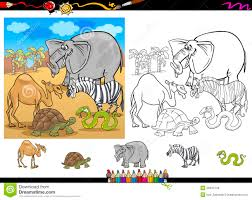 Royalty Free Stock Photo Download Safari Animals Coloring Page