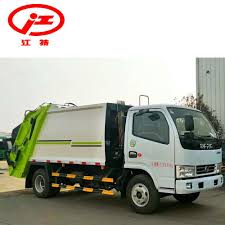100 Rubbish Truck China Dongfeng 5 Cubic Meters Compression Garbage