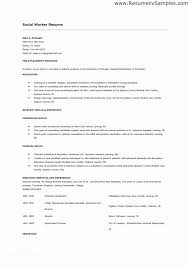 Sample Resume Social Worker Nursing Home Awesome Application Letter