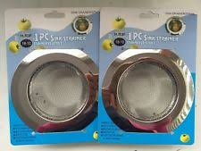 2pcs kitchen sink strainer stainless steel w silicone lid small
