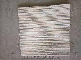 Home Cultured Stone Ledge White Water Wave Cultural Tiles Beige Slate Wall Covering Natural