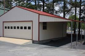 Pre Built Sheds Toledo Ohio by Steel Structure Garage With Lean To Carport Attachment 2 Garage