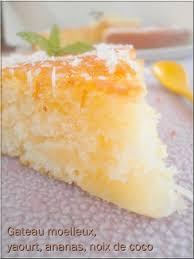 dessert ananas noix de coco gateau moelleux yaourt ananas noix de coco ola