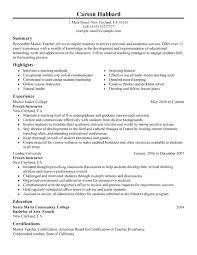 Resume Format For Lecturer Master Teacher Sample In Commerce