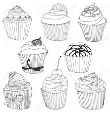 Black And White Cupcake Drawing Cupcake Drawing Black And White – Google Search