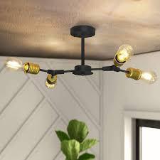 zmh deckenleuchte vintage deckenle schwarz wohnzimmer 4 6 9 flammig e27 kronleuchter für schlafzimmer küche flur balkon kaufen otto