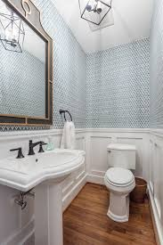 Half Bathroom Ideas With Pedestal Sink by Bathroom Awesome Wainscoting Bathroom In Decorative Design For