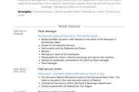 Floor Manager Resume Samples Visualcv