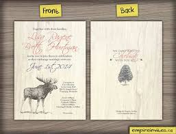 Product Details These Rustic Nature Themed Invitations