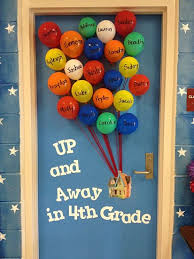Spring Classroom Door Decorations Pinterest by Up Up Away Balloon Back To Bulletin Board Back To