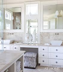 Bathroom Vanities With Matching Makeup Area by Double Sink Vanity With Center Cabinet Good Bathroom Vanities