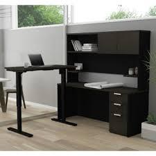 bureau d angle avec ag es bureaux avec huches type bureau pour travailler debout wayfair ca