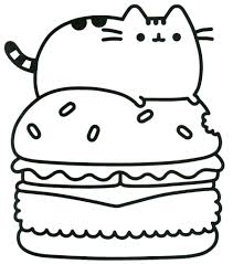 Unusual Cat Color Pages Pusheen Coloring At GetColorings Com Free Printable