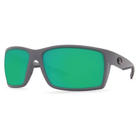 Costa Del Mar RFT98OGMP Reefton Sunglasses - Matte Gray Frame and Green Mirror Lens