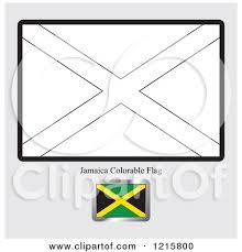 Coloring Page And Sample For A Jamaica Flag By Lal Perera