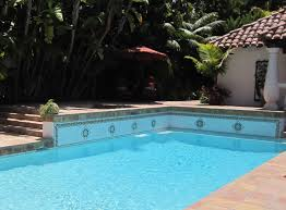 colonial 8 pool with medallions mexican talavera tile pool