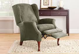 wing chair recliner slipcovers chairs slate colored great wing chair recliner design high leg