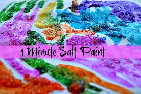 Art Activities Epsom Salt Painting