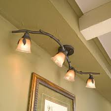 Track Lighting With Branch Style Beautifully Rustic