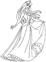 Free Printable Sleeping Beauty Cartoon Coloring Pages For Kids