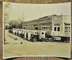 COCA COLA PLANT Dothan Alabama 1930s Delivery Trucks Motorcycle ...