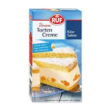 ruf torten creme käse sahne zur zubereitung einer luftig lockeren torten garnitur 6er pack 6 x 160 g
