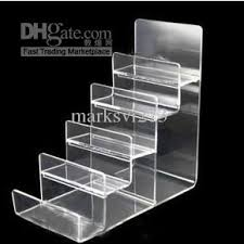 Clear Black Multi Layer Acrylic Shelf Wallet Purse Display Stand Mobile Phone Shell Rack Handbag Holder Stands
