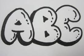 How To Draw Bubble Letters All Capital Letters