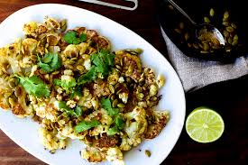 Pumpkin Seed Brittle Bon Appetit by Roasted Cauliflower With Pumpkin Seeds Brown Butter And Lime