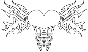 Free Printable Hearts And Flowers Coloring Pages Heart Kids Roses To Colour Full Size