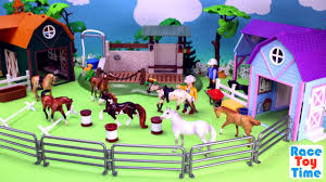 Horse Stable Barn Riding Academy Breyer Toy Playset For Kids - Fun ... Saddle Up With The Sleich Horse Club Riding Centre The Toy Insider Grand Stable Barn Corral Amazoncom Melissa Doug Fold And Go Wooden Ikea Hack Knagglig Crate For Horses Best Farm Toys Photos 2017 Blue Maize Breyer Stablemates Red Set Kids Ebay Life In Skunk Hollow Calebs Model How To Make Stall Dividers A Box Toy Horse Barns Sale Ideas Classics Country Wash Walmartcom Kid Friendly Youtube Traditional Deluxe Wood Cupola