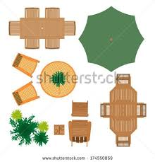 Clip Arts Related To Outdoor Furniture Top View Set 12 For Landscape Design Vector