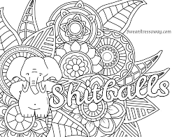 Free Adult Printable Coloring Pages Awesome Page Shitballs Swear Word