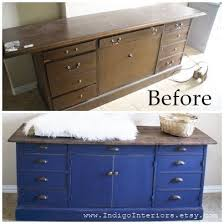 Farmhouse Style Navy Blue Distressed Dresser By Indigo Interiors On Etsy Before And After Vintage Printer Cabinet Refinished Into Industrial Rustic