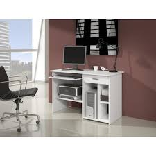 bureau ordinateur blanc sven bureau informatique contemporain blanc l 123 cm achat