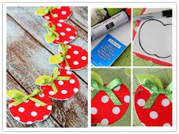 DIY Fabric Apple Garland Craft Tutorial
