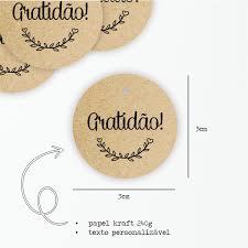 Mini Tag Kraft Gratidão 3cm