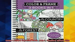 READ Book Color Frame Coloring 3 In 1 Country Forest City BOOK ONLINE