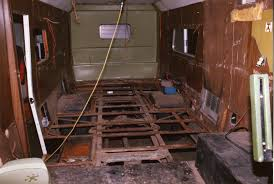 Motorhome Renovation Rear View Of Old Interior Removed