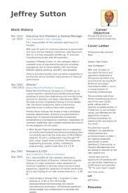 Executive Vice President General Manager Resume Example