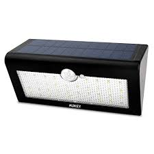 aukey solar lights 36 leds outdoor wall mounted security garden